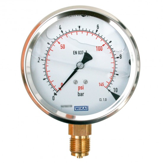 Pressure Gauge, WIKA 10bar